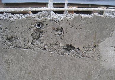 Крошится бетон