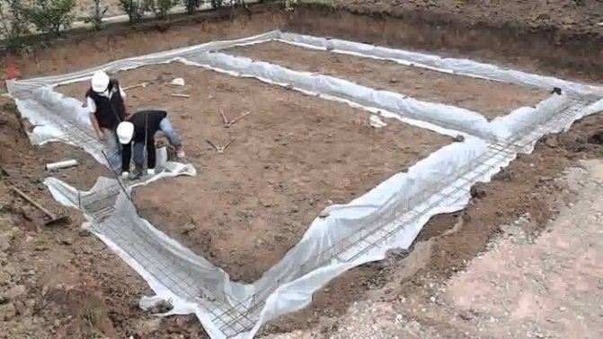 Ленточный фундамент без опалубки в земле