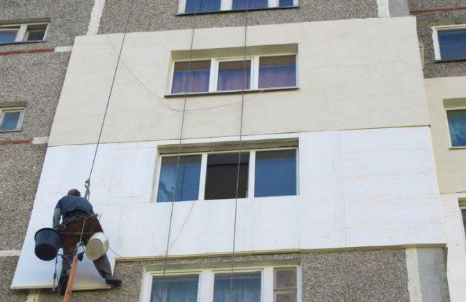 монтаж панелей для утепления бетона
