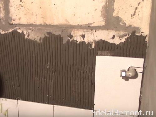 Можно ли класть плитку на газобетонные блоки без штукатурки?