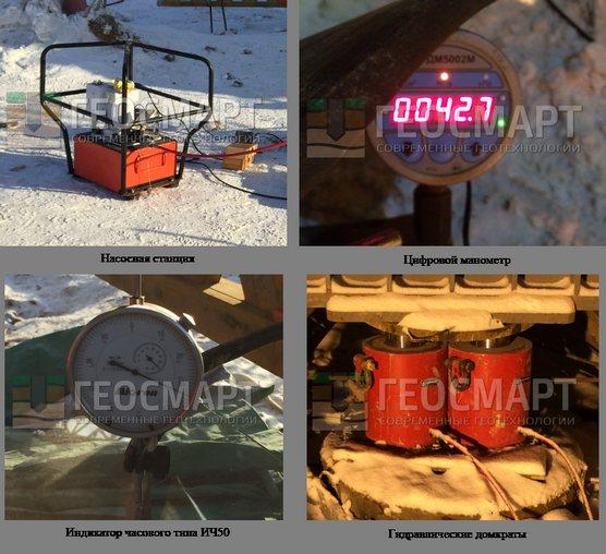 Оборудование для статический испытаний свай
