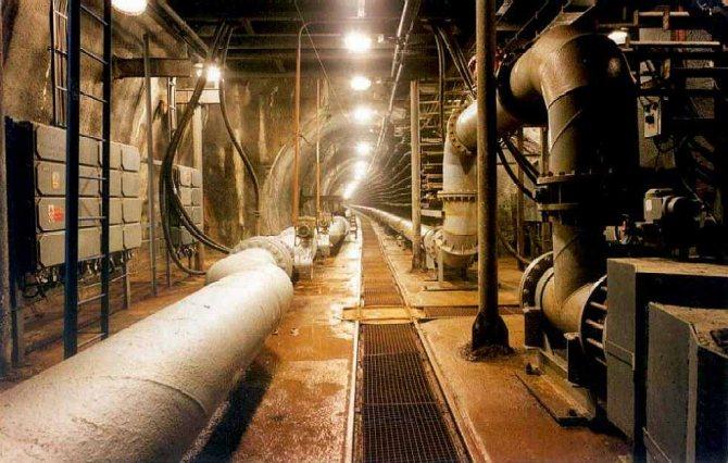 оборудование в техническом подполье