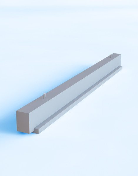 Однополочный вариант железобетонной конструкции