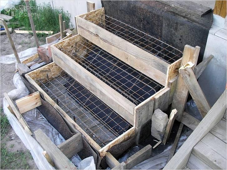Опалубка и бетонирование