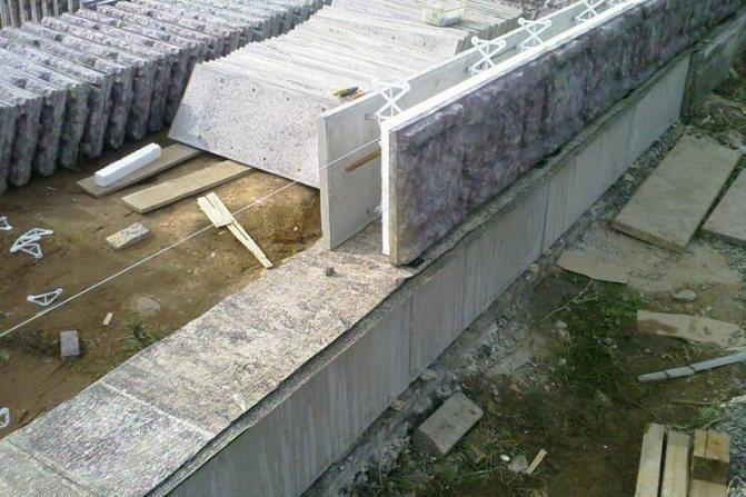 Опалубка несъемного типа из бетона