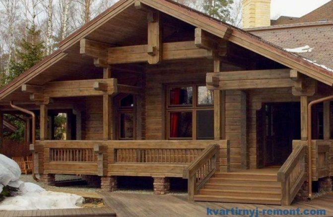 Опорно-столбчатый фундамент для дома из бруса