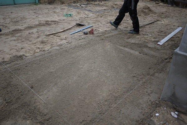 основание под кладку тротуарной плитки