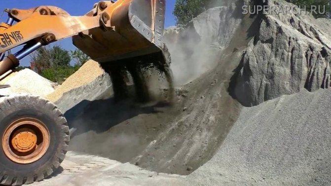 Основное отличие отсева щебня от песка