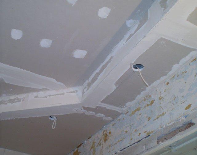 Отделка гипсокартона под кессоный потолок