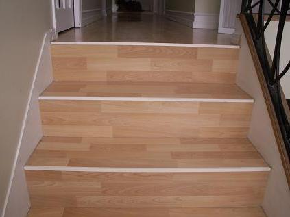 отделка ступеней бетонной лестницы ламинатом