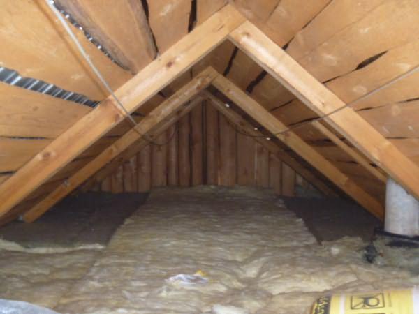 Открытый способ теплоизоляции потолка