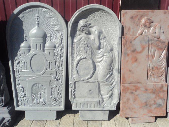 Памятники на могилу из бетона