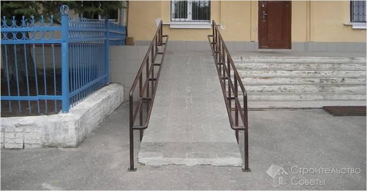 Пандус бетонный