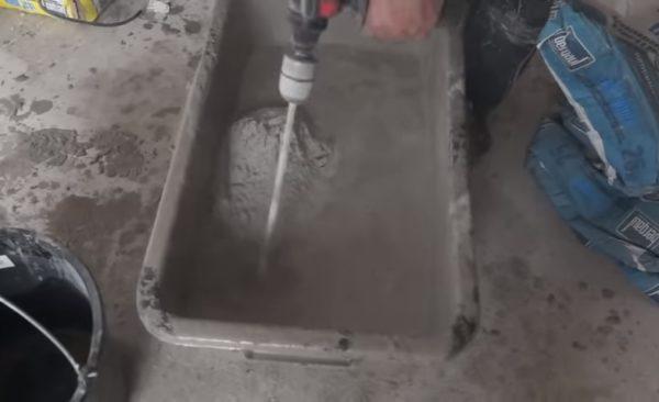 Перемешивание компонентов