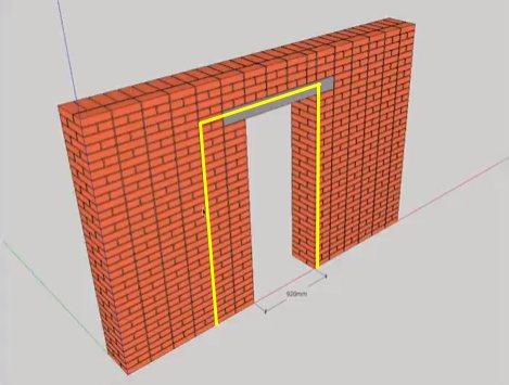 План расширения дверного проема