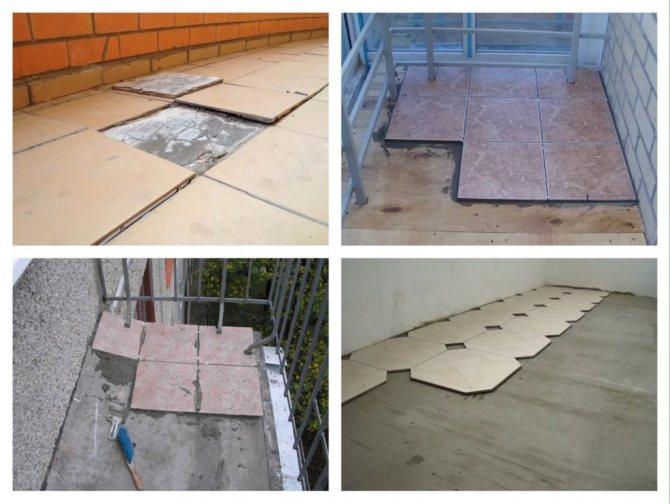 плитка на пол балкона фото