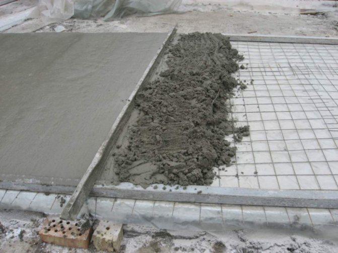 Плотность цементно-песчаной стяжки: удельный вес
