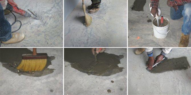 Подготовка бетонного пола к выравниванию