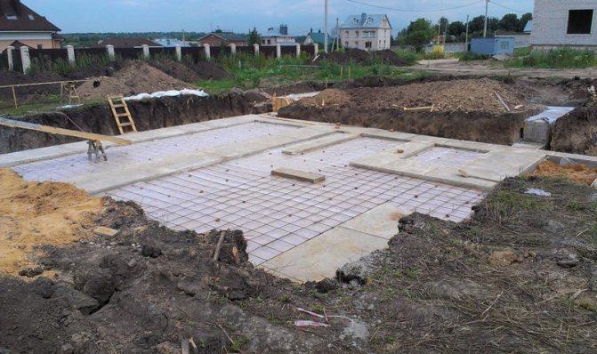Подготовка из бетона