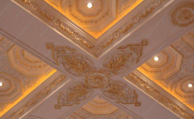 Подсветка кессонного потолка