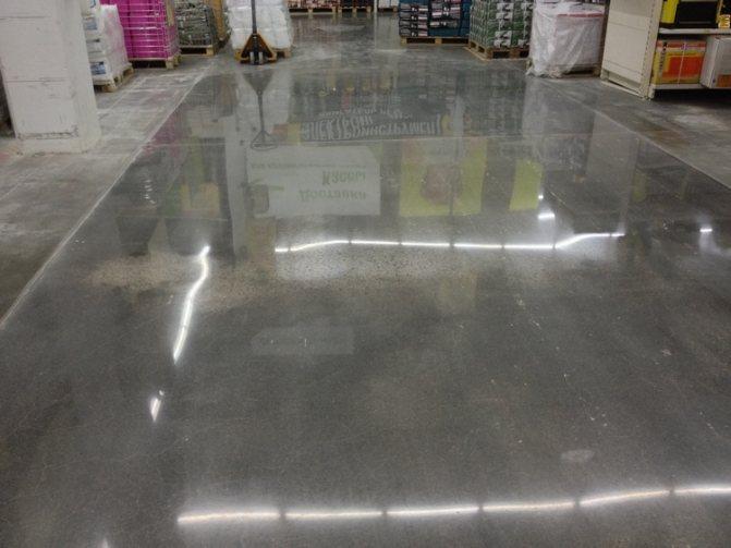 Полированный бетоный пол