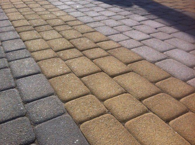 правильная укладка тротуарной плитка на песчаноцементную смесь