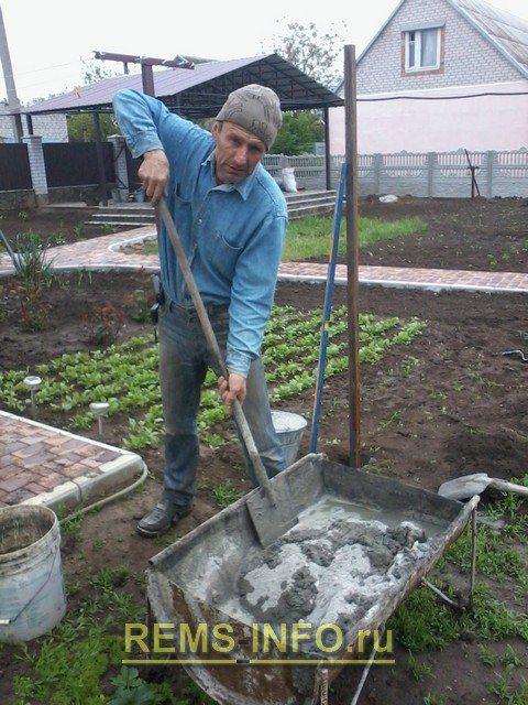 Приготовление бетона, раствора своими руками.
