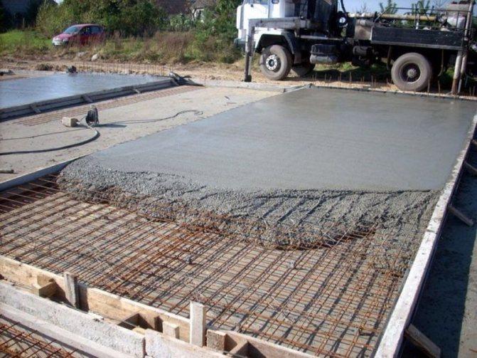 Применение бетона М150