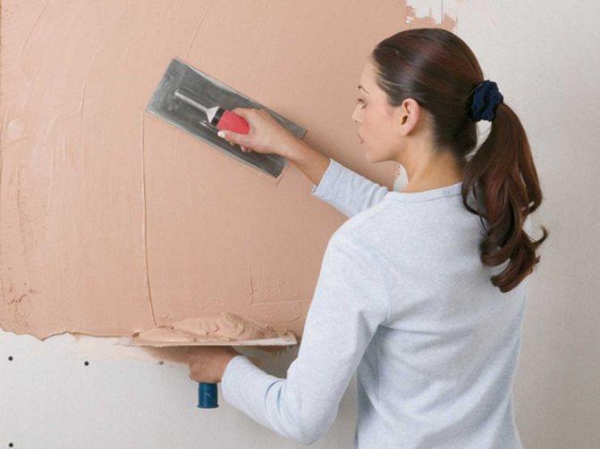 применение смеси бетоноконтакта под масляную краску с последующей штукатуркой