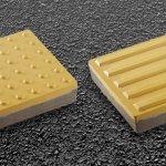 Пример бетонной тактильной плитки