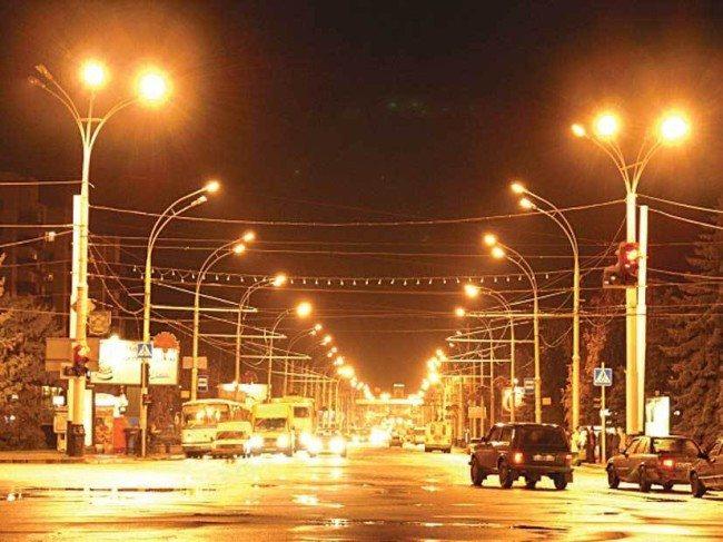 Пример городского уличного освещения