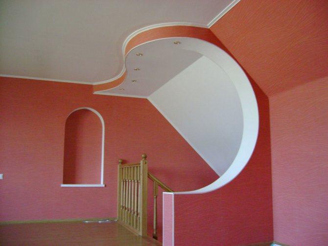 пример использования гипсокартона или штукатурки в ремонте дома