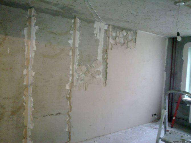 пример использования шпаклевки стен под обои в отделке квартиры