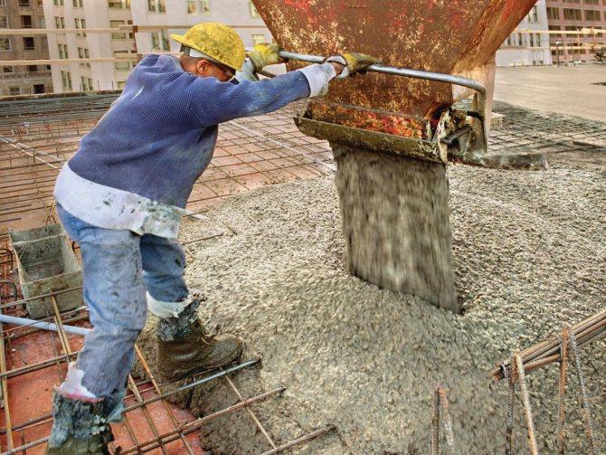 Процесс бетонирования монолитных конструкций | Синмар4