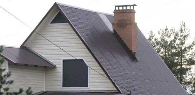 профлист на крыше
