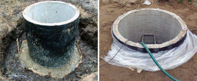 Работа по гидроизоляции колодца