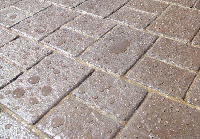 Раствор для тротуарной плитки: пропорции