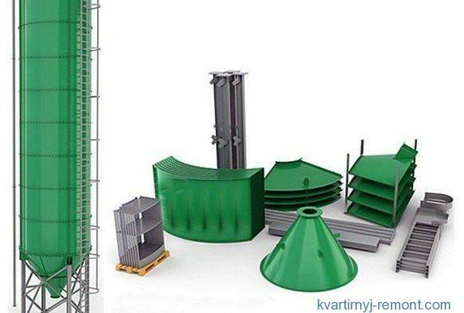 Разборные (панельные) – модульные бункеры