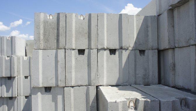 Размеры фундаментных блоков фбс