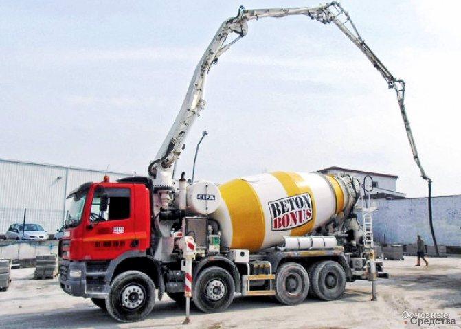 Разновидностью АБН являются truck-mikser pump-комплексы, состоящие из бетоносмесителя, совмещенного с бетононасосной установкой