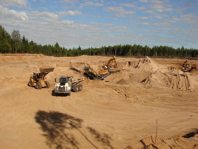 Разработка песчаного карьера