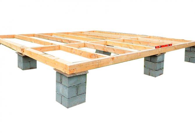 Ростверк - деревянная решётчатая конструкция, которая объединяет свайный фундамент