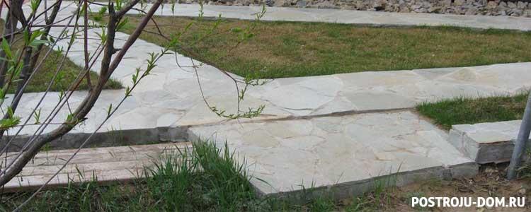Садовые дорожки из бетона своими руками
