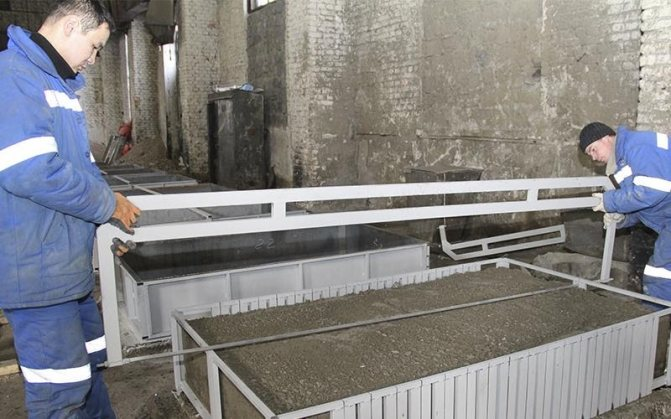 Шаблон для резки с комплектом пил для производства газобетона