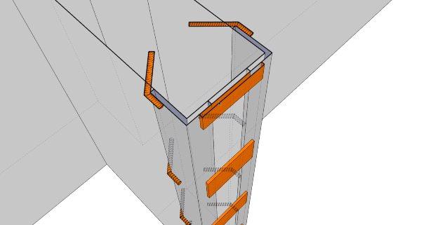 Схема фиксации каркаса шпильками