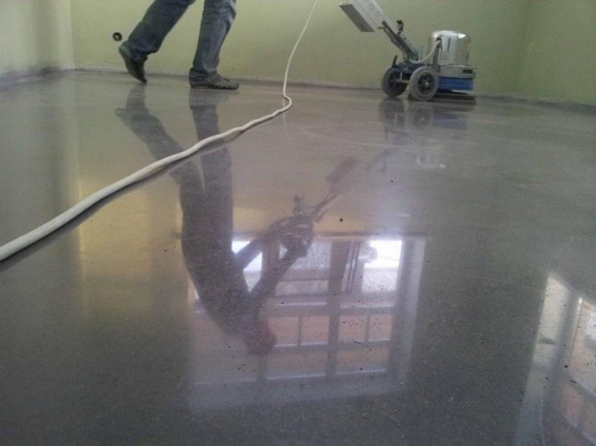 Шлифовка бетона: пола полировка своими руками, стяжка поверхностей, технология вертолетом в домашних условиях