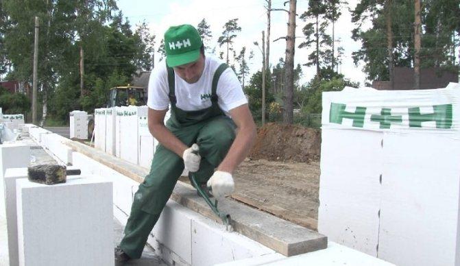 штробирование газобетонных блоков