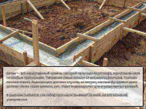 сколько должен отстояться фундамент после заливки для дома из кирпича
