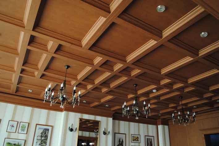 Современный кессонный потолок