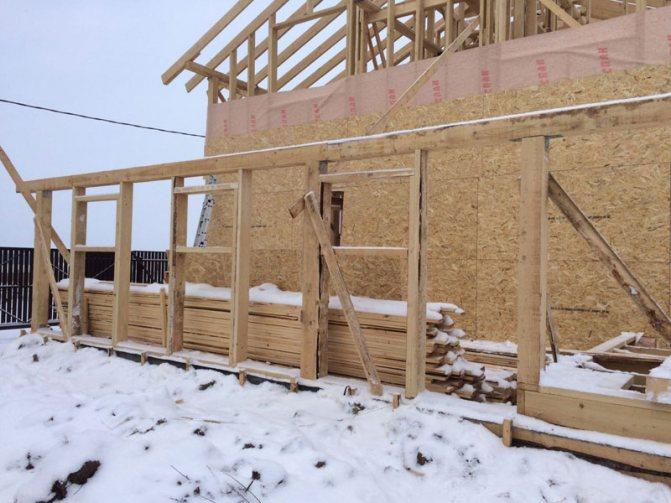 Строительство каркасного дома в Рязанской области